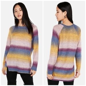 EXPRESS oversized Ombre scoop neck tunic sweater